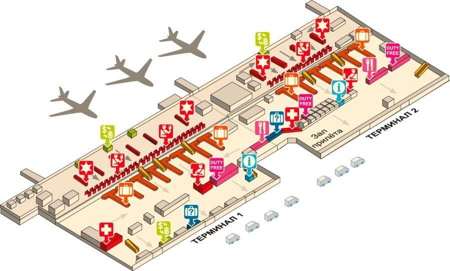 План аэропорта Дон Муанг