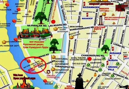 карта достопримечательностей бангкока на русском