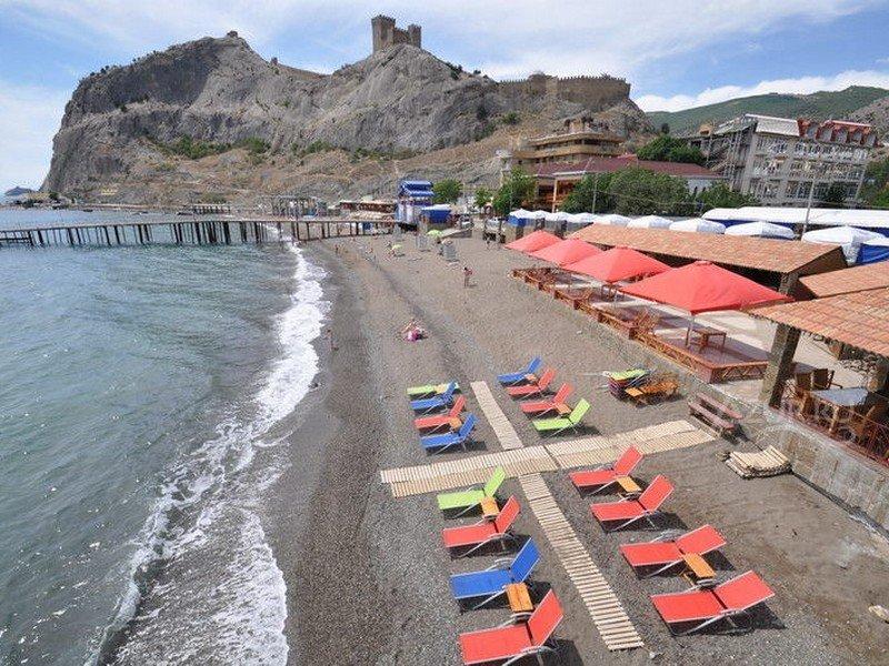 Пляж Арзы Судак Крым