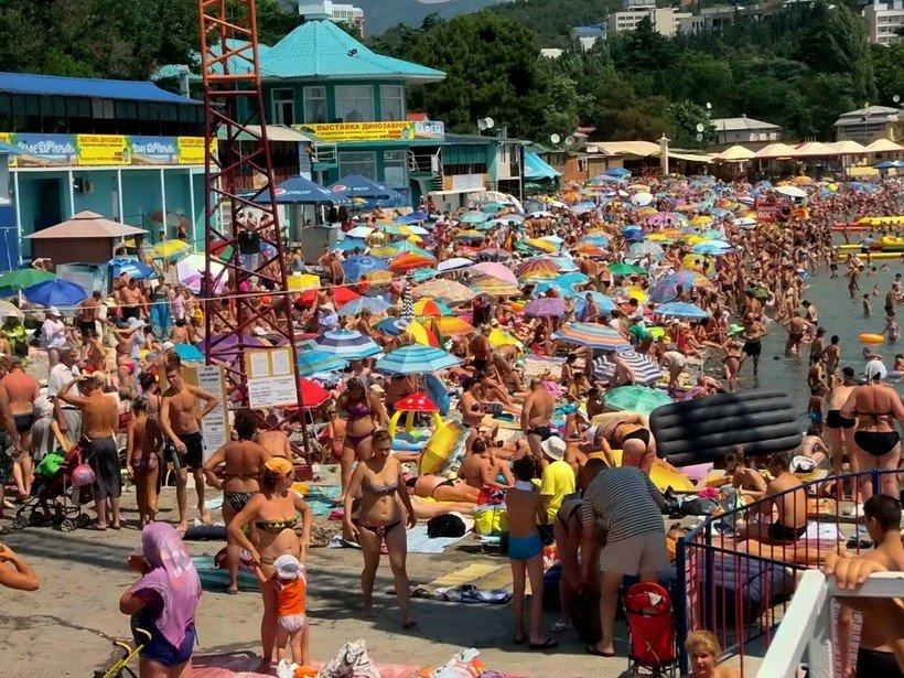центральный пляж Алушты Крым