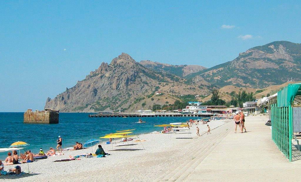 Центральный пляж курортное крым