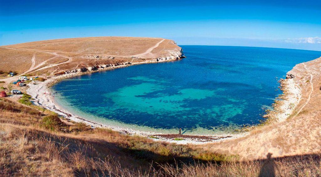 Бухта Очеретай пляж Оленевка Крым