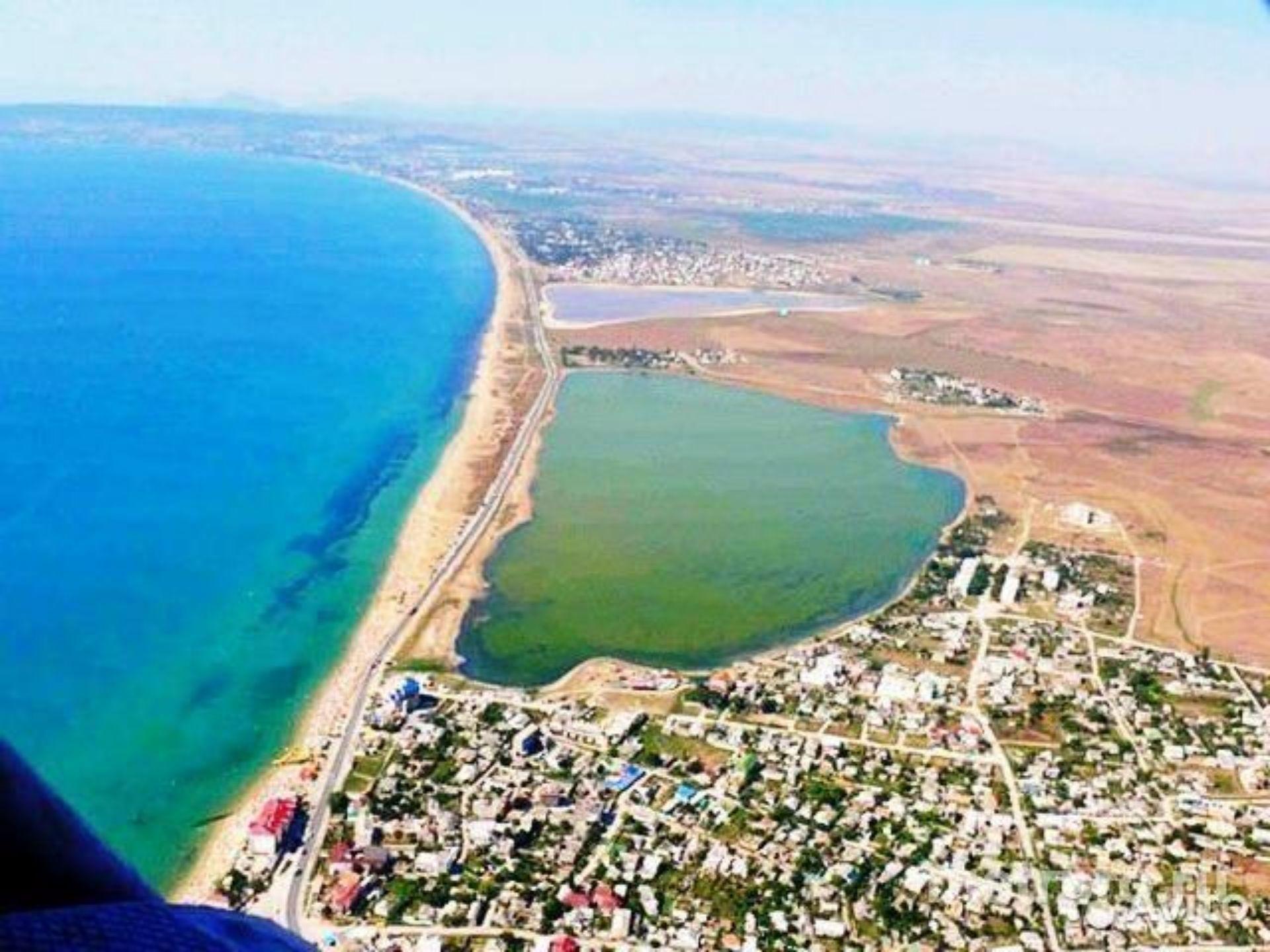 озеро Кучук-Аджиголь береговое крым