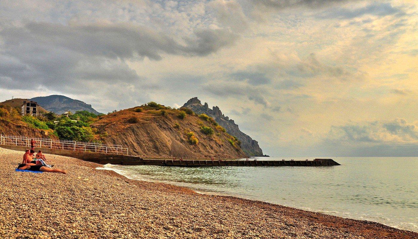 Пляж биостанция курортное