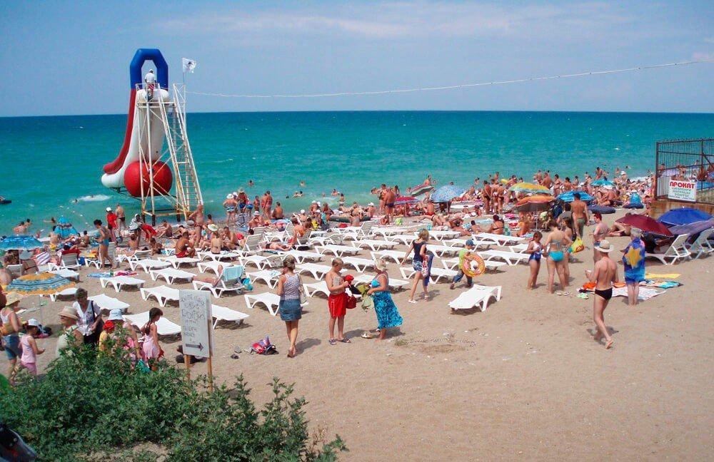 Центральный пляж Николаевка крым