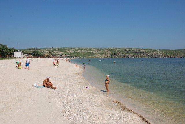 пляж татарка Щелкино Крым