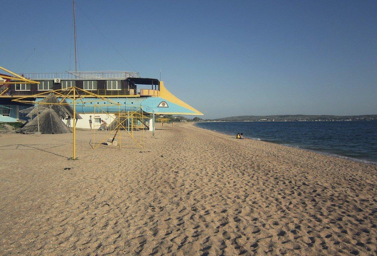 Городской пляж Щелкино Крым