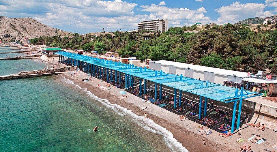 Пляж санатория ВВС Судак Крым