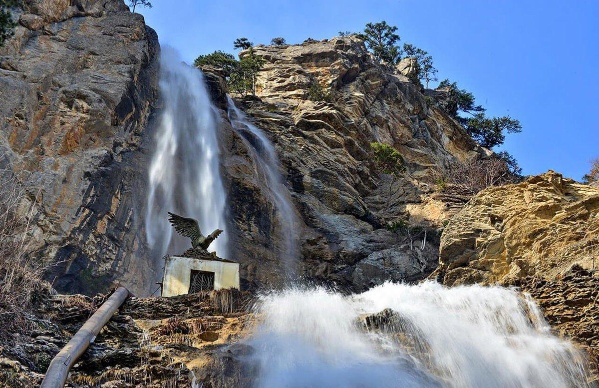 водопад учан су ай петри крым