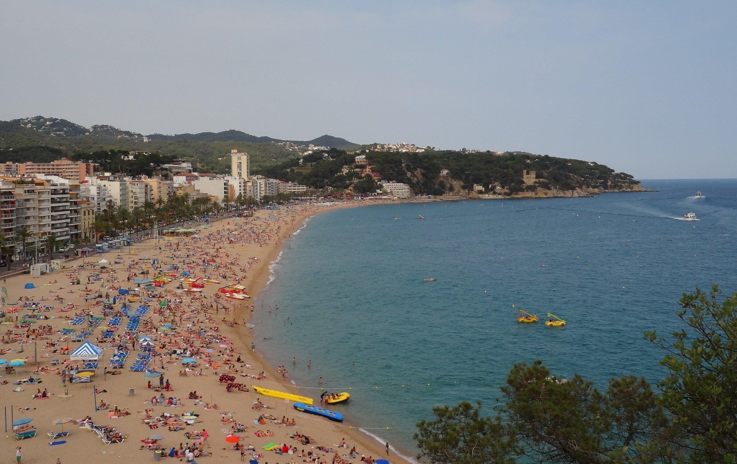 центральный пляж Ллорет-де-Мар