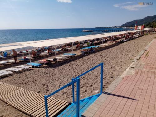 Пляж отеля Ozer park 3* Турция