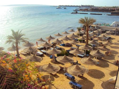 Пляж отеля Sphinx Aqua Park Beach Resort 5*