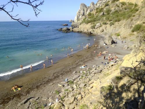 Пляж Нового Света Крым