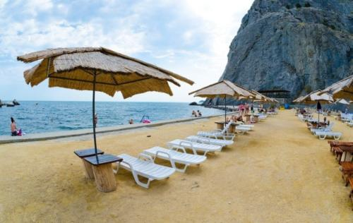 Пляж Судака Крым
